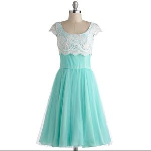 Modcloth Tulle Breathtaking Belle Dress Prom Mint